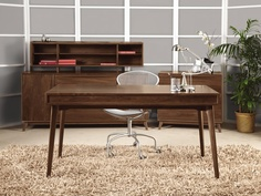 Catalina Walnut Desk made by Copeland Furniture.  Handcrafted in Vermont using natural walnut wood. http://vermontwoodsstudios.com/products/catalina-walnut-desk#