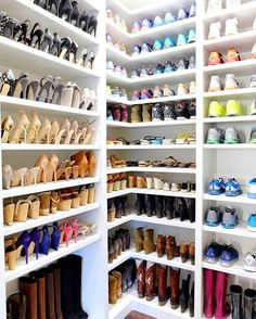 The Minimal Sort® So Fashion Week has officially started and NYFW is giving us chills! Our round up Closet Shoe Storage, Shoe Closet, Shoe Storage Luxury, Shoe Cupboard, Shoe Cabinet, Shoe Room, Closet Layout, The Home Edit, Closet Remodel