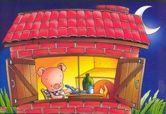 Cuentos infantiles: Los tres cerditos. Cuento ilustrado. Piggly Wiggly, Three Little Pigs, Cute Pigs, Stories For Kids, Conte, Storytelling, Fairy Tales, Clip Art, Shapes