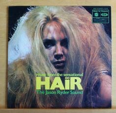 THE JASON RYDER SOUND Hair UK Vinyl LP - Walking in Space Aquarius Hare Krishna