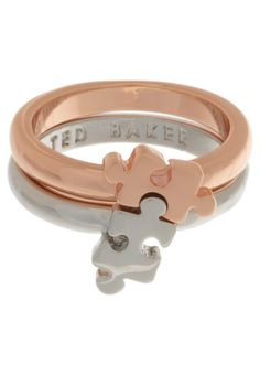 """would be so cute for best friends""  Jig Saw Puzzle Rings / Ted Baker - Um I want them both. For me. All for me."
