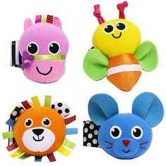 Buy Sassy Wrist Rattles, Pack of 2, Assorted Online at johnlewis.com