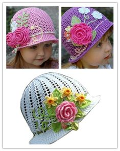 Knitted baby caps ~ adorable. I'm sure my mom will be knitting this for the upcoming baby girl