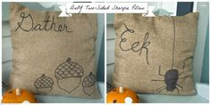 Two Sided Sharpie Pillows for Fall at thehappyhousie.com-10 Slip-cover those pillows!