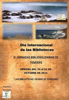 Cartel de las III Jornadas BiblioSolidarias de Tenerife (2014) organizadas por Probit