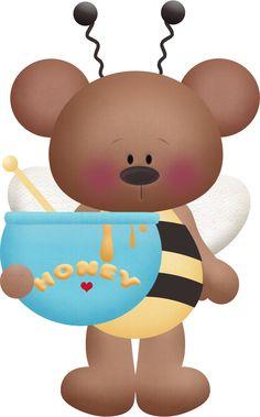 Ursinha com pote mel