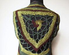 Crochet Pixie vestir Boho hadas Triskelion por TheArtofZenCrochet