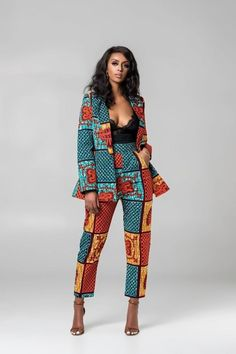 The Ranie Blazer is stunning in the Green African Print. It's comfy to wear … The Ranie Blazer is stunning in the Green African Print. It's comfy to wear and will make sure you stand out in a crowd African Fashion Ankara, Ghanaian Fashion, African Inspired Fashion, Latest African Fashion Dresses, African Dresses For Women, African Print Fashion, Africa Fashion, African Attire, African Wear