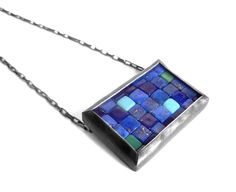 Mosaic Necklace - Lapis Lazuli, Turquoise & Silver