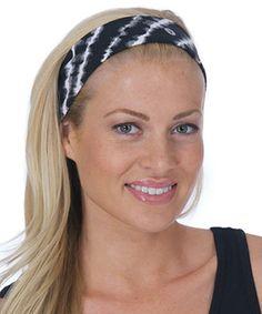 Loving this Black Tie-Dye Reflex Headband on #zulily! #zulilyfinds