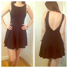 Black Backless dress NWOT This dress was a gift, so I never got a chance to wear it....its beautiful and light...and super sexy in the back. Dresses