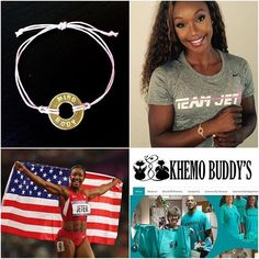 "We are proud to collaborate with Carmelita Jeter @jetg5 - ""fastest woman alive"" and @khemobuddys  to provide support for people undergoing chemotherapy.  She chose ""MIND (over) BODY"" to encourage patients who are battling cancer. Order this special edition pink adjustable ""MIND (over) BODY"" bracelet on our website's Collaboration section (link in our bio) and all proceeds go to #KhemoBuddys"