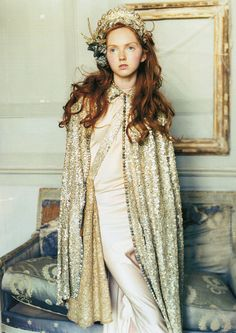 Lily Cole for Vogue 'The House on the Hill' photos Arthur Elgort…