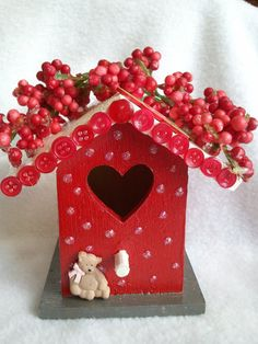 hand painted embellished whimsical decorative wooden by Cherie4e, $6.50