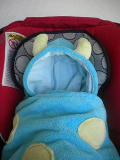 Car Seat Blanket with Little Monster Hood for by CarSeatCuddles, $55.00