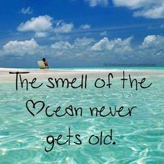 so true..i love the smell of the ocean ❤️the salt life