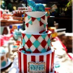 Circus Cake - perfection. Want this for Hadley!!!!