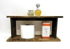 $25.00 - Our hand made rustic, primitive pallet wood shelf is the perfect size for just about any place in the house where a little extra storage or collectibles display space is needed. Perfect for the bath or kitchen...Click on the image above for ,ore information or to buy from WileWood.Thank you for your interest!