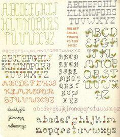 Cross-stitch alphabets - Vintage pattern leaflet.