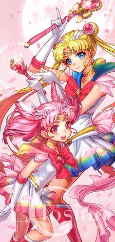eclosion, Bishoujo Senshi Sailor Moon, Sailor Chibi Moon, Chibiusa, Sailor Moon (Character), Tsukino Usagi