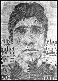 Image result for newspaper collage portrait