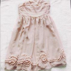 Lauren Conrad Pink Strapless Dress Very pretty light pink dress. In new shape! Lauren Conrad Dresses Strapless