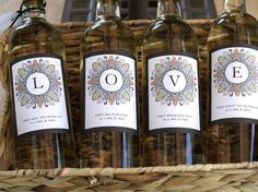diy printable wine labels for a stock-the-bar shower.