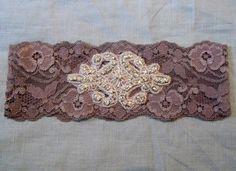 Embellished Rhinestone Charcoal grey bridal garter by gartermegood, £15.95