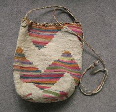 Shigra bag from Ecuador. Woven from a cactus fiber called cabuya