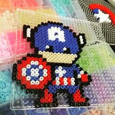 Captain America perler beads by trendmark_brunei