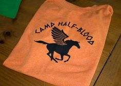 Percy Jackson sleepover party - includes link for a pdf to make this shirt (Halloween costume!)