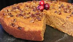 SWEET POTATO SKILLET CAKE - This gluten free cake is moist, delicious and brings all the fall flavors into one single bite. The sweet potato is just sweet enough while being complimented by the cinnamon, cloves and ginger. It's best to let the cake cool completely before serving for best results.  NOTE: This batter can be poured into two 9-inch round pans, baked until a toothpick inserted in the center comes out clean and layered with a cream cheese frosting.