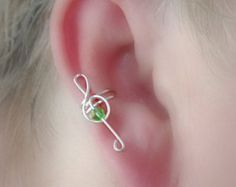 Ear cuff pair with double chain wrap