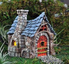 Fairy Houses for the Garden | Miniature Garden Fairy/Faerie Gnome,Hobbit Bakery, House,Cottage In ...
