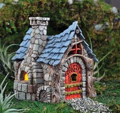 Fairy Houses for the Garden | Miniature Garden Fairy/Faerie Gnome,Hobbit Bakery, House,Cottage In ...