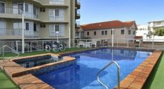 Foreshore Beachfront Apartments Gold Coast Located on Mermaid Beach, these Gold Coast apartments feature an outdoor swimming pool, spa pool and uninterrupted ocean views from every apartment. Coolangatta Airport is a 15-minute drive away. .
