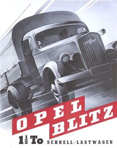 Opel Blitz Schnell-Lastwagen (1948): Advertising Art by Bernd Reuters
