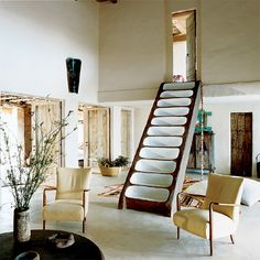 Consuelo Castiglioni - founder of Marni, this house is located on the Spanish island of formentera