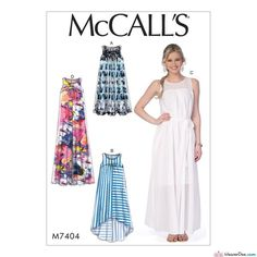 McCall's Sewing Pattern M7404 Misses' Dresses with Yokes & Belt … WeaverDee.com