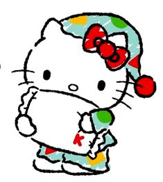 Hello Kitty Art, Hello Kitty Pictures, Sanrio Hello Kitty, Hello Hello, Sanrio Characters, Fictional Characters, Hello Kitty Wallpaper, Color Pencil Art, Cat Stickers