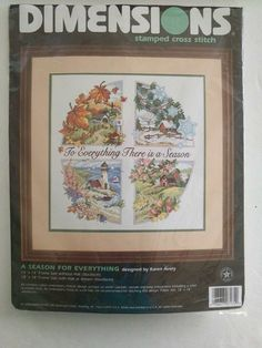 Dimensions Stamped Cross Stitch Kit~A Season For Everything~1998~#3174  FreeShip #Dimensions