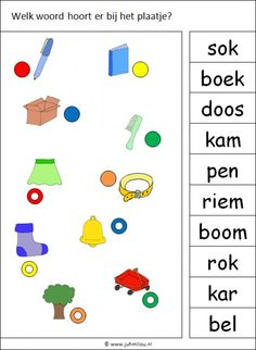 Kids Writing, Writing Practice, Afrikaans Language, Dutch Words, Dutch Language, Fun Worksheets, Pre School, First Grade, Toddler Activities