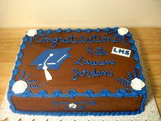 Graduation sheet cake - 2 layer half sheet cake vanilla with chocolate bc