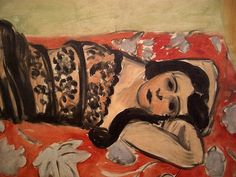 Henri Matisse: The Black Shawl (Lorette VII) (detail), 1918. Norton Simon Museum, Pasadena, California