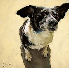 """Dogs Rule #7"" by Karin Jurick. Karin is one of my favorite painters. Nice loose…"