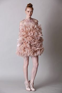 fluffy and cute. MARCHESA New York spring collection 2011