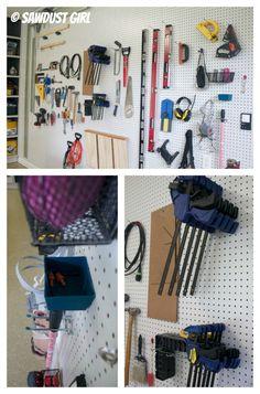 Pegboard Wall - Workshop Tool Organization
