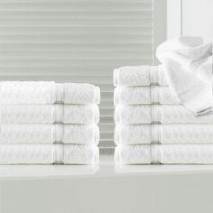 Maison Condelle Sandra Venditti Bamboo Washcloth Color: White