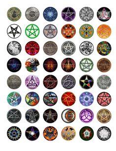 Wicca Symbols Printable Digital Collage Sheet by shadowdancer2, $3.00