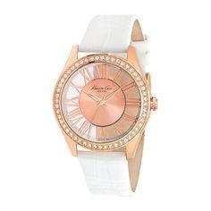 Transparency  Kenneth Cole Damenuhr rosé weiß KC2728 http://www.thejewellershop.com/ #watch #wristwatch #uhr #kennethcole #cole